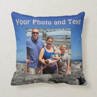 Personligdekorativ kudde, ditt foto och text kudde