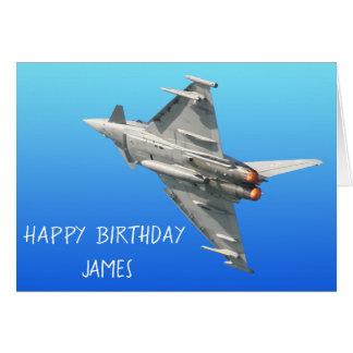 Personligen för Eurofighter Typhoonfödelsedag Hälsningskort