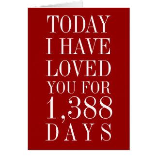 Personligen numrerar av dagar som jag har älskat hälsningskort