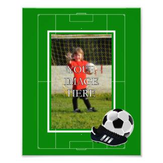 Personligfotboll- fotbolltryck fotografiska tryck