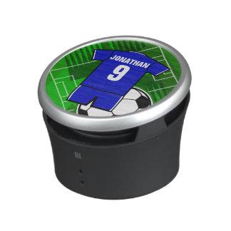 PersonligfotbollJersey blått med vit Speaker