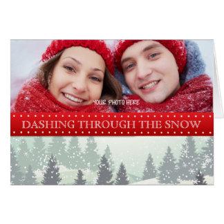 Personligfotohelgdagskort - snö/vinter hälsningskort