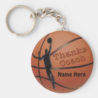 Personliggåvaidéer för baskettränare rund nyckelring