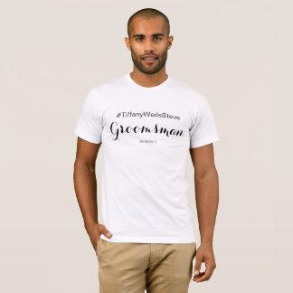 PersonligGroomsmanT-tröja från den brud- Tröjor
