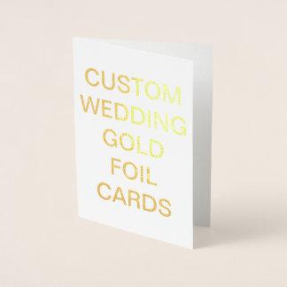 Personligguld för personligt bröllp 7x5 folierat kort