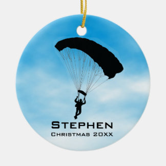 Personlighimmeldykning som hoppa fallskärm julgransprydnad keramik