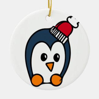 Personligjulprydnad - pingvin julgransprydnad keramik