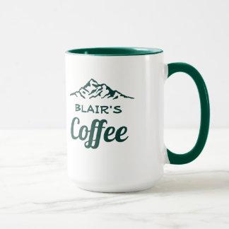 Personligkaffemugg med berg mugg