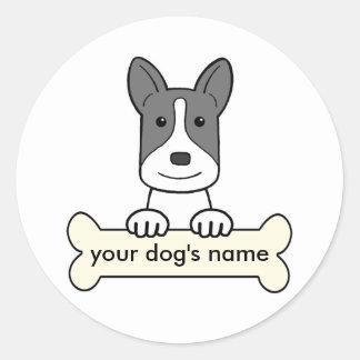 PersonligKanaan hund Runt Klistermärke