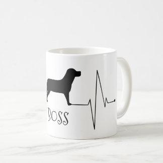 PersonligLabrador kärlek min hundhjärtatakt Kaffemugg