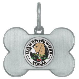Personligliv är bättre med en Beagle ID-bricka Husdjur