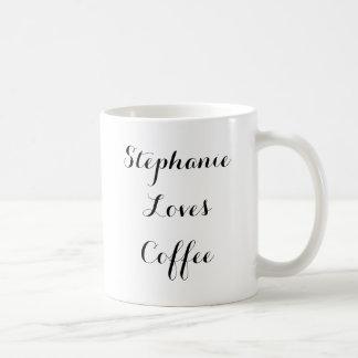 Personlignamn älskar kaffemuggen vit mugg