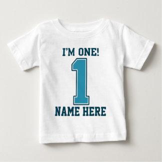 Personlignamn, I-förmiddag en, stora blått T Shirt