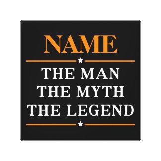 Personlignamn manen mythen legenden canvastryck