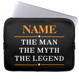 Personlignamn manen mythen legenden laptop sleeve
