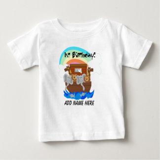 PersonligNoahs Tshirt för födelsedag för ark 1st T-shirts