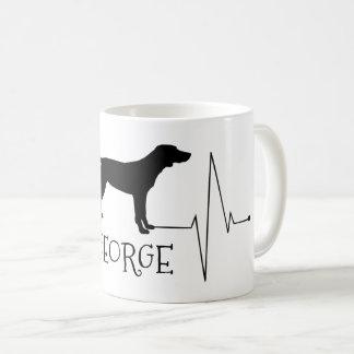Personligpekarekärlek min hundhjärtatakt kaffemugg