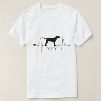 Personligpekarekärlek min hundhjärtatakt t-shirt