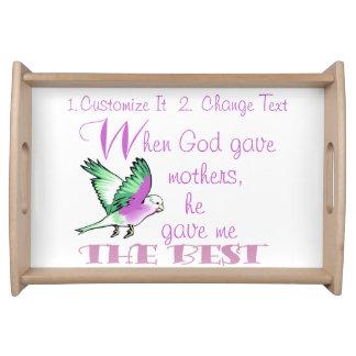 Personligportionmagasin - när guden gav mammor frukostbricka
