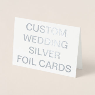 Personligsilver för personligt bröllp 7x5 folierat kort