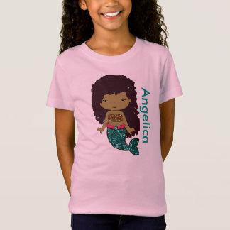 Personligsjöjungfruflicka skjorta t-shirt