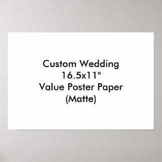 """Personligt bröllp 16.5x11"""" värderar den pappra posters"""