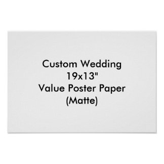 """Personligt bröllp 19x13"""" värderar (Matte) Affisch"""