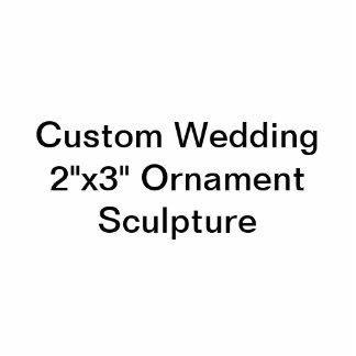 """Personligt bröllp 2"""""""" skulptur för prydnad x3"""