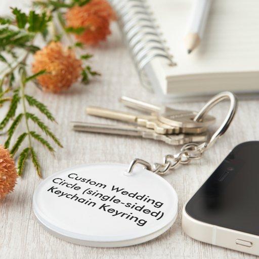 Personligt bröllp cirklar den enkelsidiga Keychain
