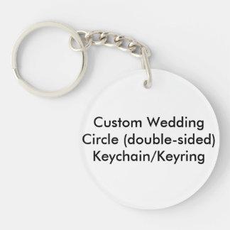 Personligt bröllp cirklar tvåsidiga nyckelringar