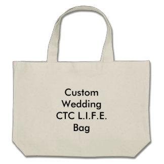 Personligt bröllp CTC L.I.F.E. hänger lös Tote Bags