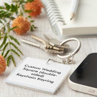 Personligt bröllp kvadrerar den tvåsidiga Keychain