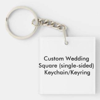 Personligt bröllp kvadrerar enkelsidiga nyckelring