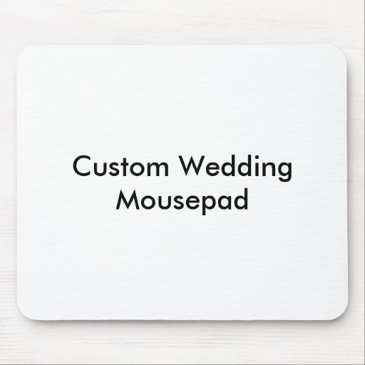 Personligt bröllp Mousepad Musmattor