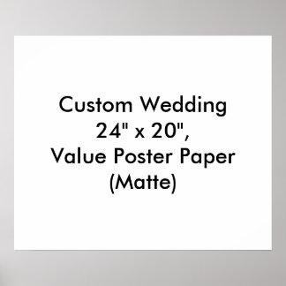 Personligt bröllpfavöraffisch som ska affisch