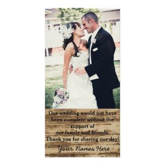 Personligt bröllpfotoet tackar dig kort
