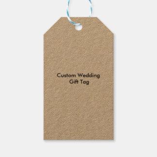 Personligt bröllpgåvan märker Kraft Presentetikett