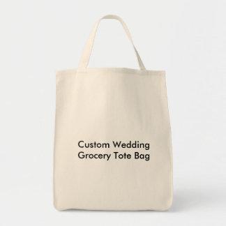 Personligt bröllplivsmedeltotot hänger lös mat tygkasse