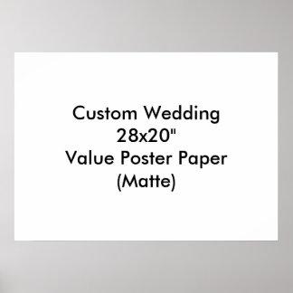 Personligt bröllpspara dateraaffischerna posters