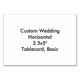 """Personligt bröllpvågrät 3.5x5"""" Tablecard som är Bordsnummer"""