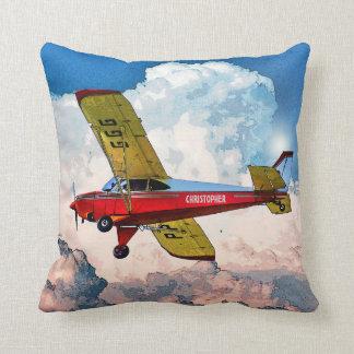 Personligt flygplan för röd blåttgult med ditt kudde