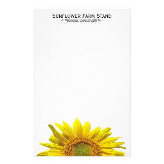 Personligt handstilpapper för solros brevpapper