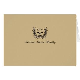 Personligt rättvisakranfoto. Notecard/tack OBS Kort