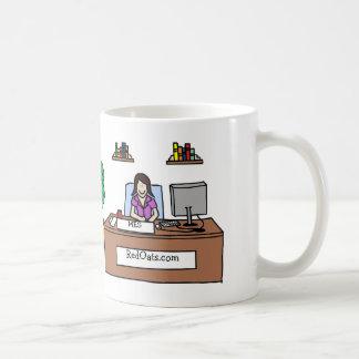 Personligtecknadmugg med företagsnamn kaffemugg