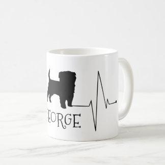 PersonligTerrierkärlek min hundhjärtatakt Kaffemugg