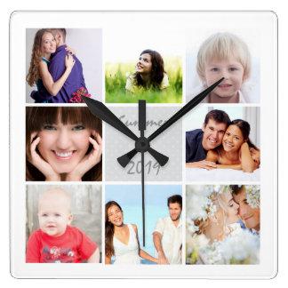 Personligväggen tar tid på familj- eller parets fyrkantig klocka