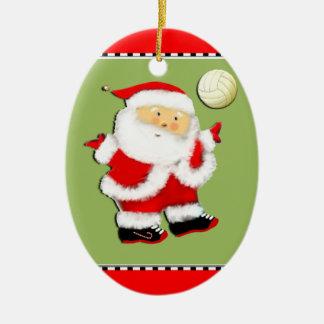 personligvolleyboll julgransprydnad keramik