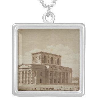 Perspektiv beskådar av huset av direktören silverpläterat halsband