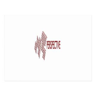 Perspektive typografi vykort