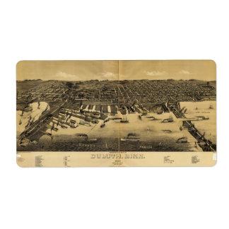 Perspektivkarta av Duluth Minnesota (1887) Fraktsedel